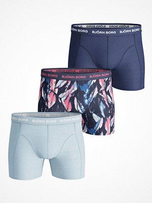 Björn Borg 3-pack Shorts Digi Leaf Essential Shorts   Blue Pattern