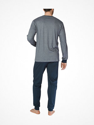 Pyjamas & myskläder - Calida Comfy Zone Slim Leg Long Pyjama Grey/Darkgrey