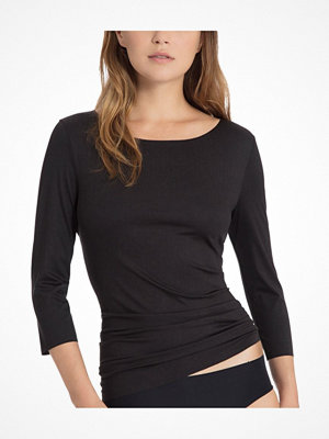 Calida Natural Luxe Threequarter Length Sleeve Top Black