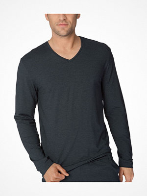 Pyjamas & myskläder - Calida Remix Basic Function Long Sleeved Top  Darkgrey