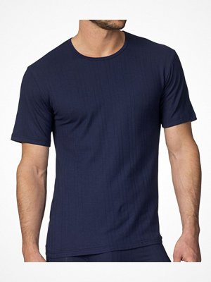 Pyjamas & myskläder - Calida Pure & Striped T-Shirt Darkblue
