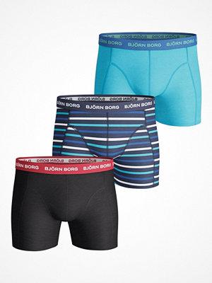 Björn Borg 3-pack Essential Stripe Print Shorts  Multi-colour