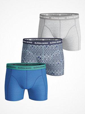 Björn Borg 3-pack Essential Triangline Shorts  Blue/Grey