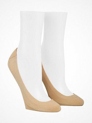 Strumpor - Calvin Klein 2-pack Bardot Heel Pad No Show Socks Beige