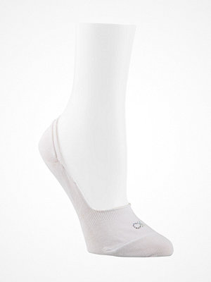 Calvin Klein Aubrie Crystal Logo No Show Socks White