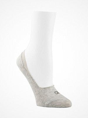 Calvin Klein Aubrie Crystal Logo No Show Socks Grey