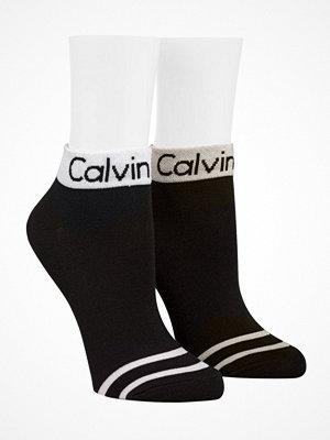 Strumpor - Calvin Klein 2-pack Zoey Performance Anklet Socks Black