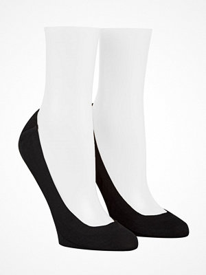 Strumpor - Calvin Klein 2-pack Bardot Heel Pad No Show Socks Black