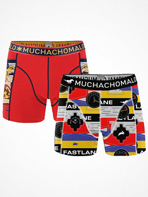 Muchachomalo 2-pack Living In The Fast Lane Boxer Red Pattern-2