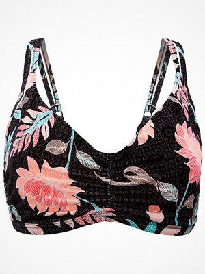 Seafolly Bali Hai F Cup Bralette Bikini Top Black pattern-2