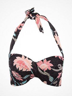 Seafolly Bali Hai Twist Soft Cup Halter Bikini Top Black pattern-2