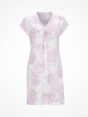 Nattlinnen - Damella Flower 4 Night Shirt Pink Pattern