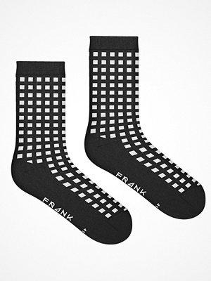 Frank Dandy Bamboo Diamond Crew Sock  White Pattern-2