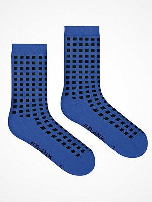 Frank Dandy Bamboo Diamond Crew Sock  Blue Pattern