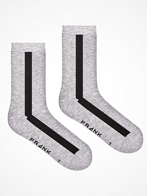 Frank Dandy Bamboo Vertical Crew Sock  Black/Grey