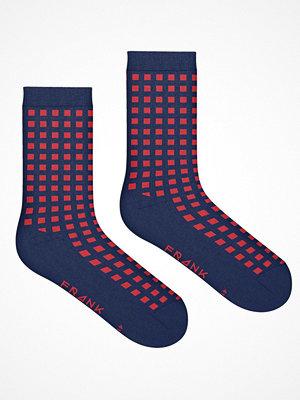 Frank Dandy Bamboo Diamond Crew Sock  Red Pattern-2