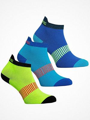 Strumpor - Salming 3-pack Performance Ankle Socks Blue/Yellow
