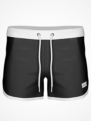 Frank Dandy Long Bermuda Swimshorts  Black/White