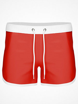 Frank Dandy Long Bermuda Swimshorts  Red/White