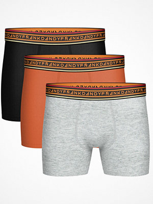 Frank Dandy 3-pack Solid Contast Boxer Multi-colour