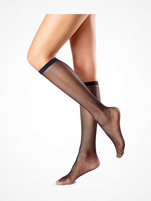 Strumpbyxor - Oroblu Mi-Bas Tricot Fishnet Knee-Highs Black