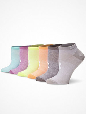 Under Armour 6-pack Solid No Show Socks Multi-colour
