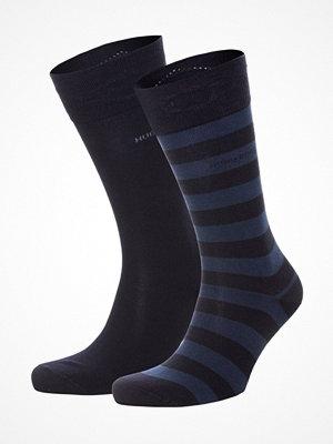Hugo Boss 2-pack Block Stripe Socks Darkblue