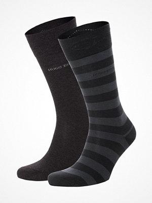 Hugo Boss 2-pack Block Stripe Socks Darkgrey