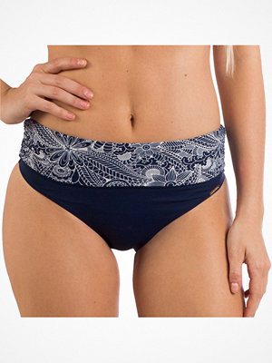 Bikini - Panos Emporio Flower Flow Chara Fold-Down Brief Navy pattern