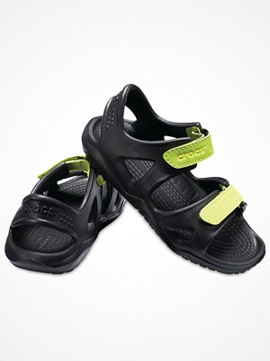 Tofflor - Crocs Swiftwater River Sandal Kids Black