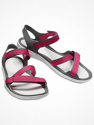 Crocs Swiftwater Webbing Sandal W Pink/White