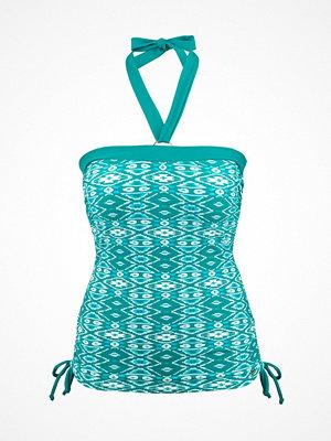 Abecita Ethnical Drawstring Tankini  Green Pattern