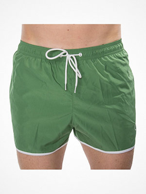 Badkläder - Calvin Klein CK NYC Short Runner Swim Shorts Green