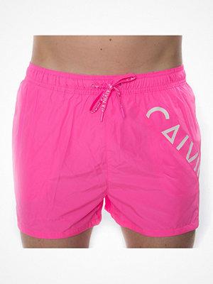 Badkläder - Calvin Klein Core Diagonal Logo Short Drawstring Pink