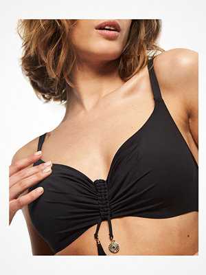 Chantelle Eivissa Covering Underwire Bikini Bra Black