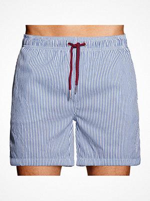Badkläder - Gant Seersucker Swim Shorts Blue