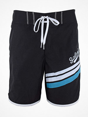 Badkläder - Salming Robin Long Boardshorts  Black