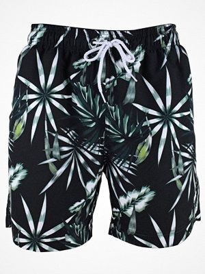 Badkläder - Salming Rip Original Long Shorts  Black pattern-2
