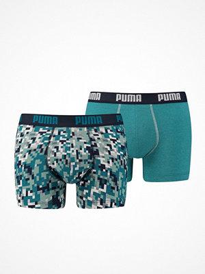 Kalsonger - Puma 2-pack Blocking Print Boxer Green Pattern