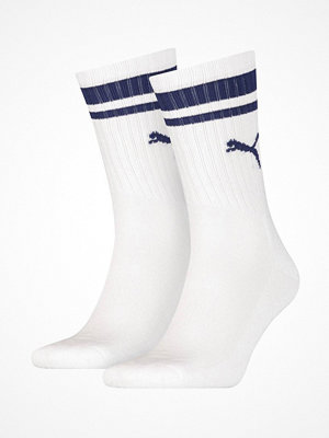 Puma 2-pack Crew Heritage Stripe Socks White/Blue