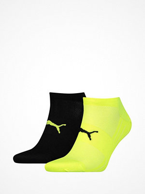 Puma 2-pack Active Lightweight Sneaker Socks Black/Yellow