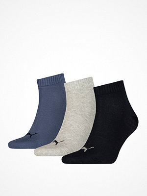 Puma 3-pack Quarter Socks Navy/Grey