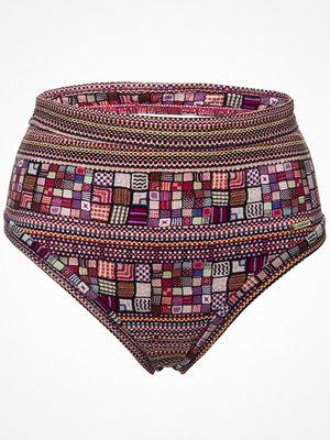 Bikini - Sunseeker Criss Cross High Waisted Pant Pink Pattern