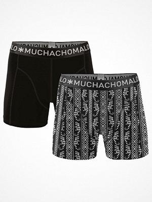Muchachomalo 2-pack Cotton Modal Legua Boxer Black pattern-2