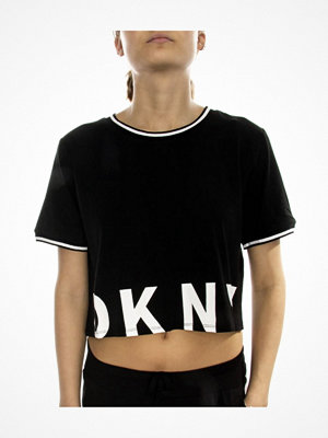 Pyjamas & myskläder - DKNY Spell It Out SS Top Black