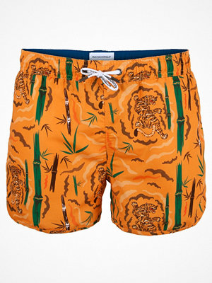 Badkläder - Muchachomalo Swim Tiger Wood Boardshort Orange patterned
