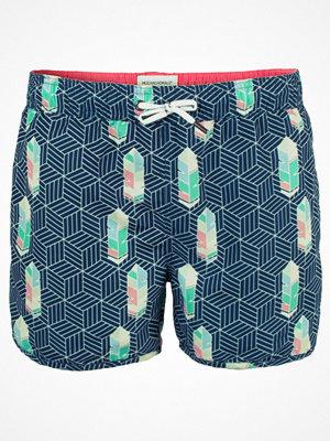 Badkläder - Muchachomalo Swim Free Lika A Bird Boardshort Blue Pattern