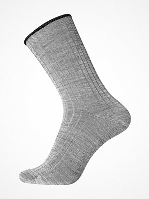 Strumpor - Egtved No Elastic Rib Wool Socks Grey