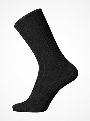 Egtved No Elastic Rib Wool Socks Black