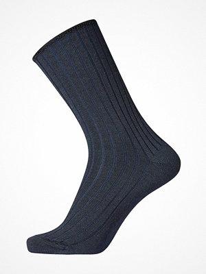 Strumpor - Egtved No Elastic Rib Wool Socks Darkblue